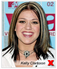 Kelly Clarkson Brown Hair With Blonde And Red Highlights