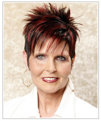 Trendy short hairstyle with highlights