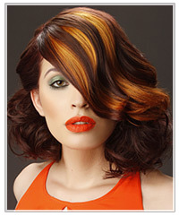 How To Add Peek A Boo Red To Your Hair : Hairstyles ...
