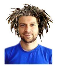 Roger wearing James' dreads