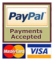 We accept Visa, Matercard and Paypal payments.