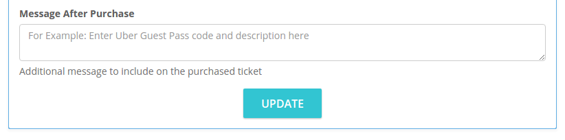UberEVENTS Code Included on Ticket