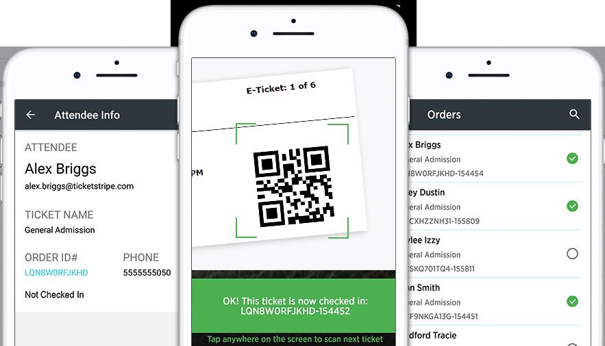 The Ticketstripe Organizer App