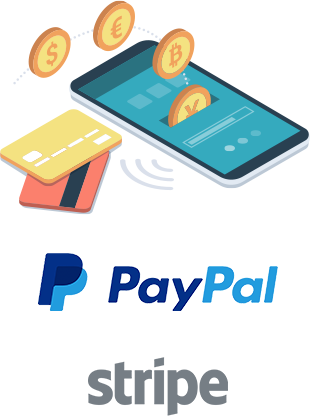 Sell tickets online with PayPal and Stripe