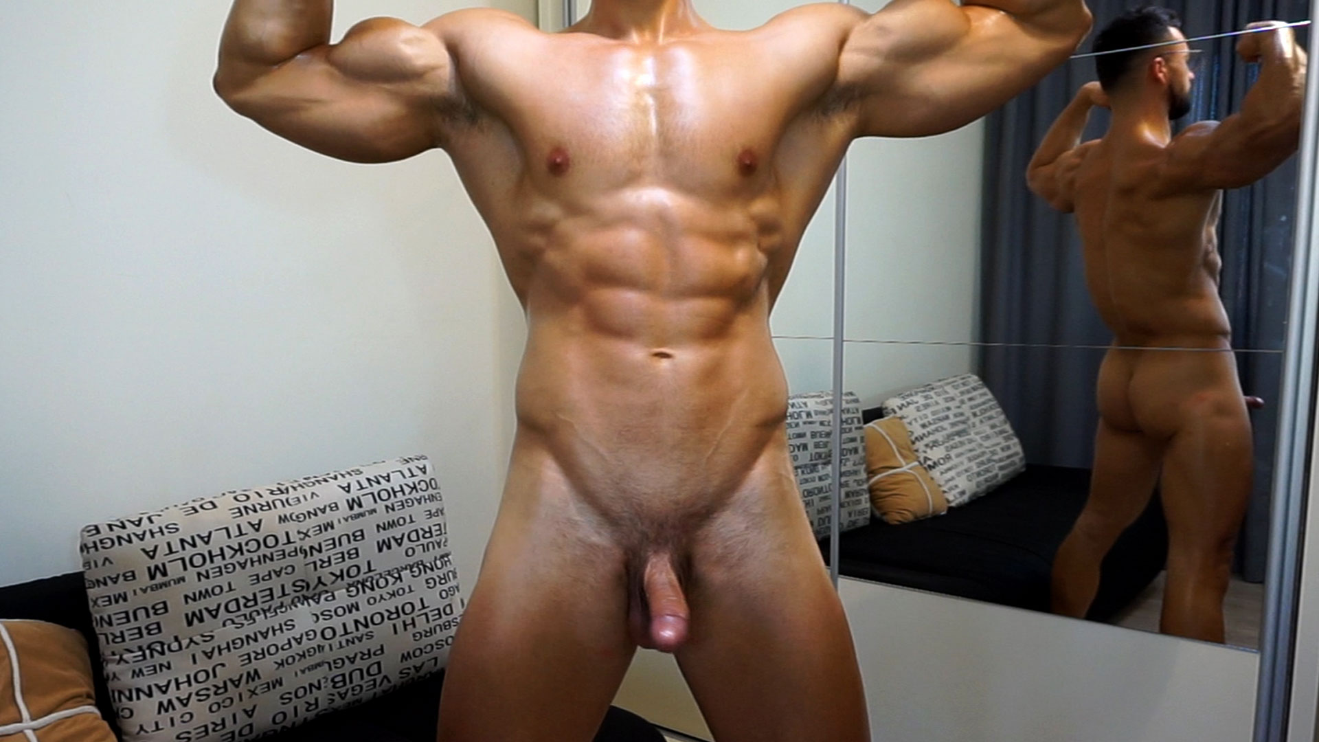 Nude Muscles Flex - Big Cum Shoot