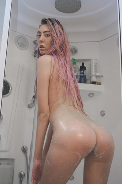 Shower Play And Stripping Nude Thumbnail