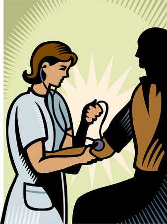 a man getting his blood pressure taken
