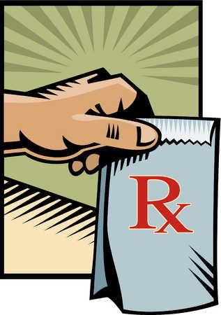 a picture of a bag of prescriptions