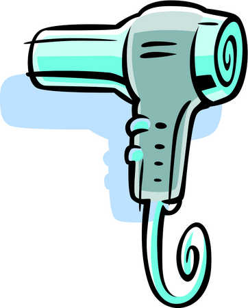 Stock Illustration - Cartoon drawing of a blow dryer