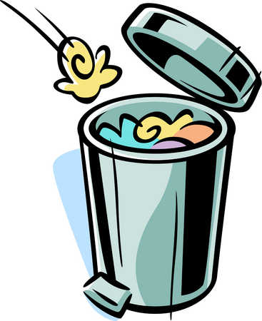 stock illustration cartoon drawing of a trash can rh illustrationsource com