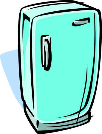 Stock Illustration Cartoon Drawing Of A Refrigerator