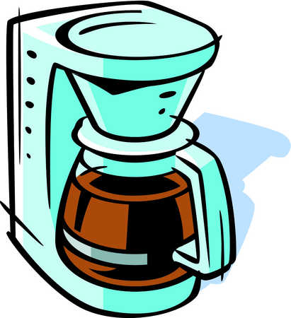 stock illustration drawing of a coffee maker rh illustrationsource com cute coffee pot clipart coffee pot clipart free