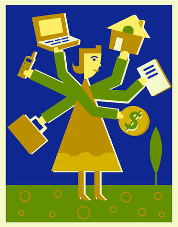 A woman balancing life and career