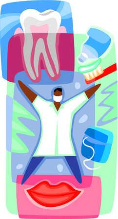 A graphic representation of dental care