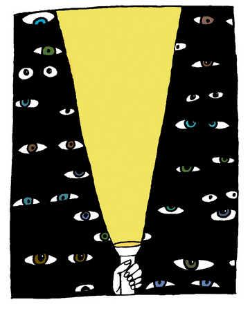 Image result for flashlight shining in dark cartoon