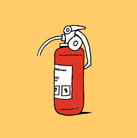 An illustration of a fire extinguisher