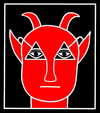 Red devil, close-up