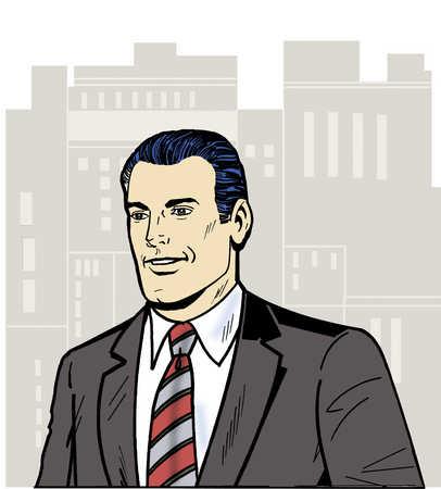 Businessman looking away, smiling