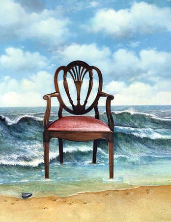 A chair at a beach
