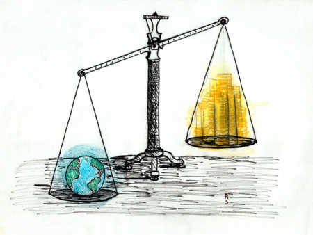 The world weighs heavier than stacks of gold