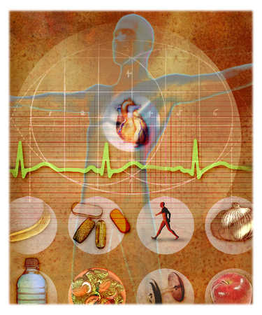 Diet, exercise and supplementaries are the keys to a healthy heart
