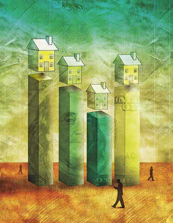 The fluctuation in the value of real properties