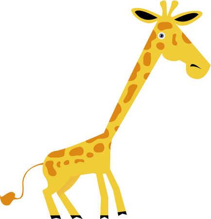 Stock Illustration Drawing Of A Giraffe