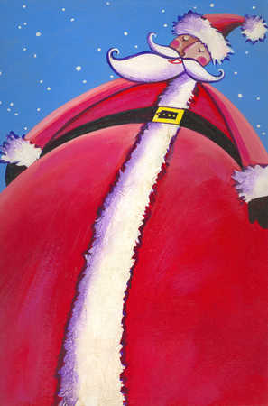 Low angle view of Santa Claus