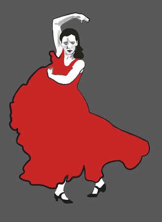 Woman flamenco dancing