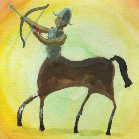 Centaur holding bow and arrow