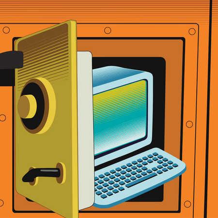 Computer inside safe