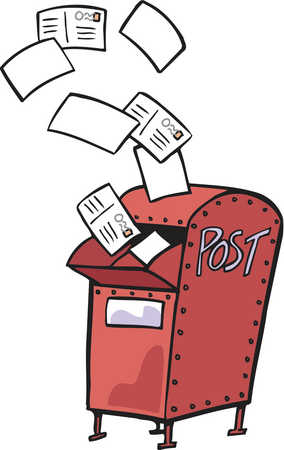 Stock Illustration - Drawing of a red mail box with ...