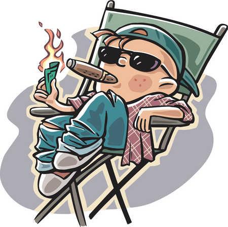 A teenage boy smoking a cigar