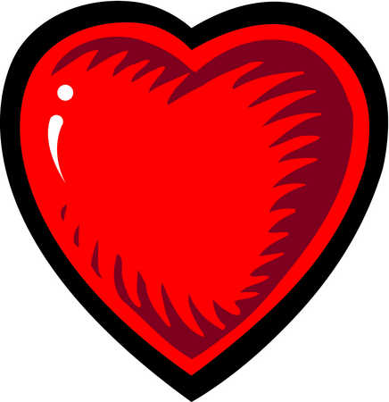 A red heart symbolizing love