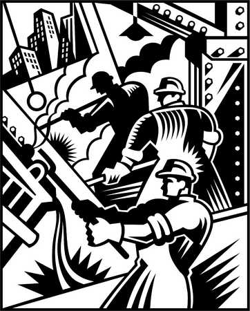 An illustration of skilled workers