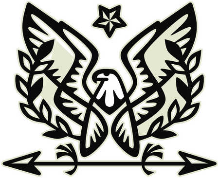 Eagle with star and arrow