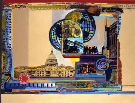Collage of national and global industry images
