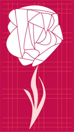 Abstract design of rose