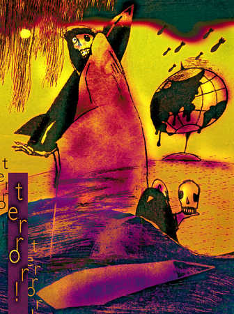Illustration of global terror
