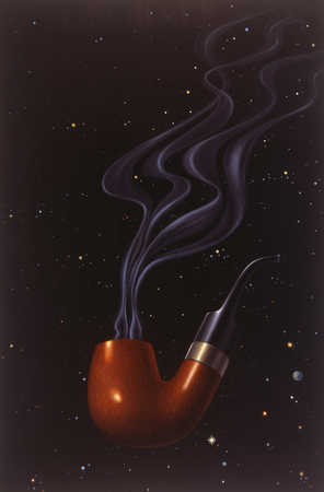 Smoking pipe floating in space
