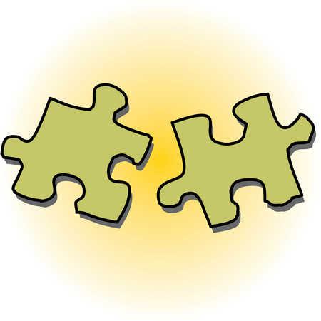 stock illustration puzzle pieces