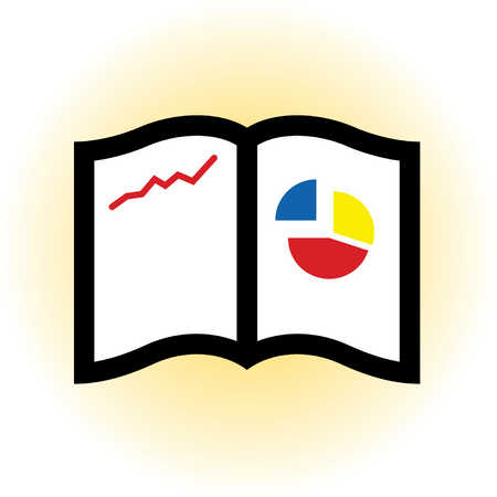 Close-up of charts in book