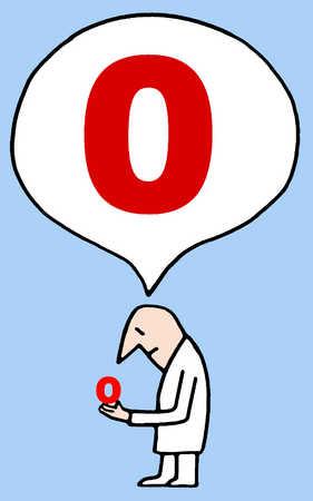 Man holding and saying O