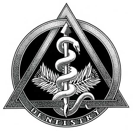 Stock Illustration - Close up of dentistry symbol