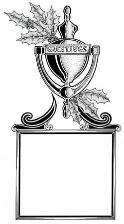 Door knocker over blank plaque