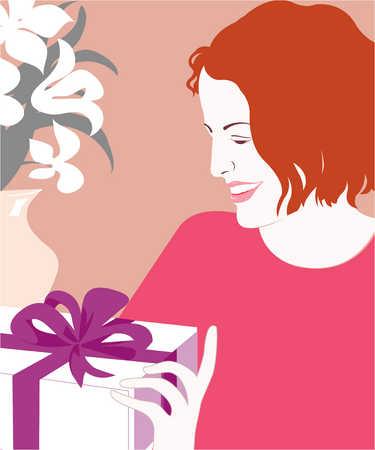 Woman smiling at gift
