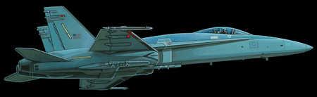 Illustration of jet airplane