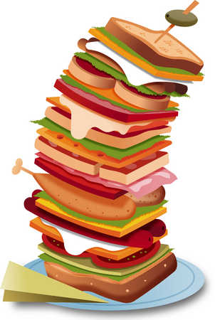 illustration sandwich