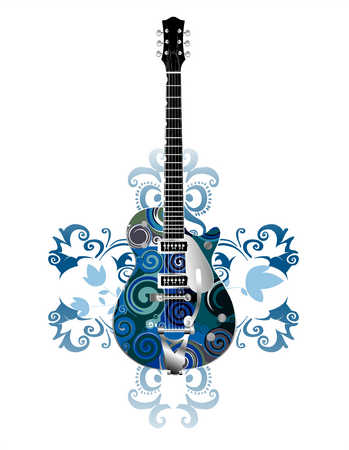 Abstract Design On Guitar