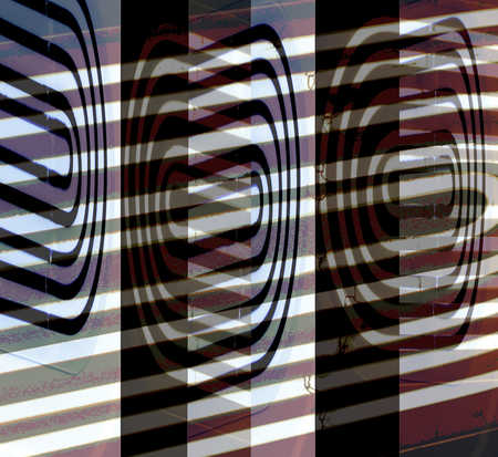 Abstract image of stripes and ovals